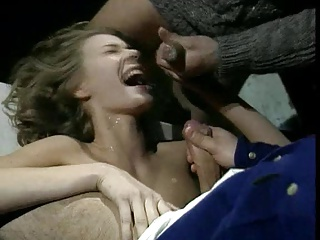 Two Dudes Blasting Cum At Her