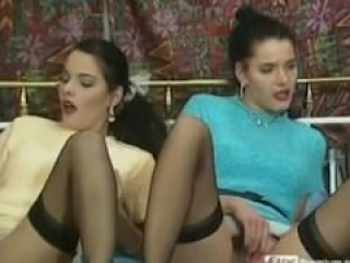Twins German Girls fucked by two guys