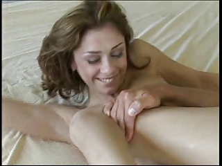 Gorgeous girl gets fucked on the bed.