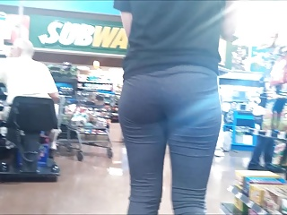 Teen Butt at Checkout