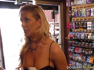 Cherie DeVille cheats on her husband with black gloryhole co