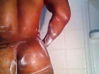 big booty brotha showering