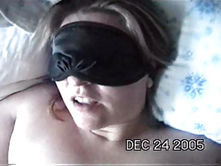 Bound & blindfolded blowjob – the happy ending facial!