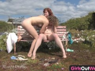 Girls Out West – Hairy lesbians mutual fingering