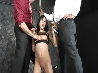 Cecilia Vega in unreal interracial gangbang