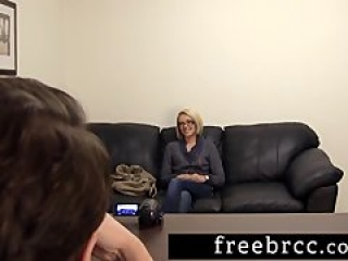 Beautiful Blonde Gets Creampied During Audition at Backroom Casting Couch