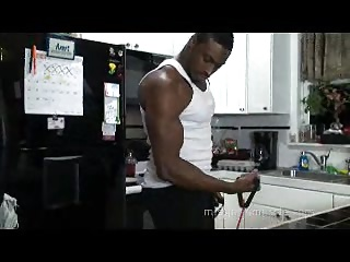 Iron Man Flexing and Cooking