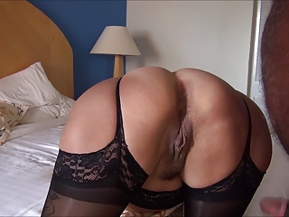 LYNN FUCKS IN BLACK LINGERIE