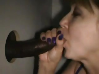 Happy wife & bbc at gloryhole cim