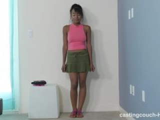 CastingCouchHD – Ebony teen will lick ass to be in a rap video