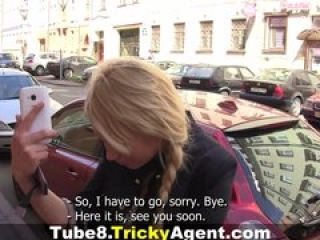 Tricky Agent – Modest blondy turns to be really starving for sex!