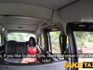FakeTaxi Scottish lass gets creampied