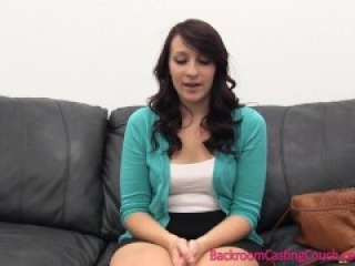 Cheating GF: First Time Anal & Ambush Creampie on Casting Couch