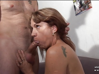 French squirt mom analyzed DP gangbanged for her casting