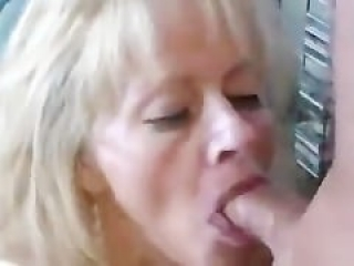 Mature womans blows me hard