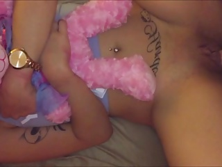 cute teen blonde princess gets fucked by daddy