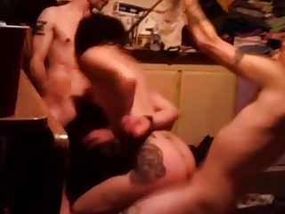 Blindfolded Neighbor threesome, She does not know I recorded