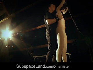 Sexual bondage pain for young slut submitted to humiliation