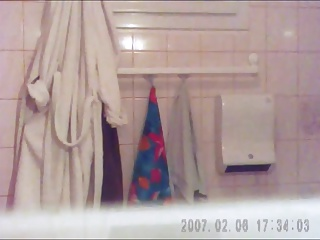 Hidden cam of A friend as she takes a shower -2-
