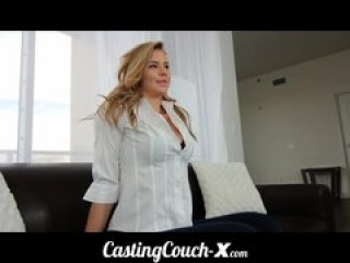 Casting Couch-X Blonde teen excited to get into porn