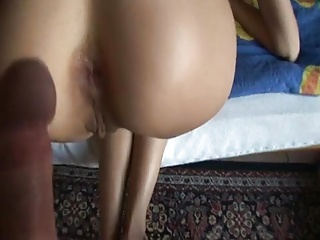 skinny wife takes long cock in ass