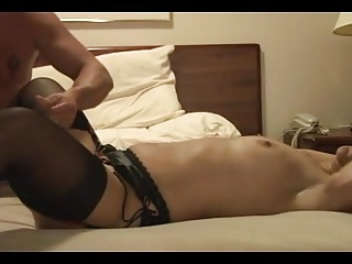 after creampied by black friend, hubby fucks her