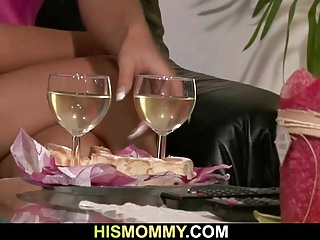 Busty mom and sweet gf enjoy each other