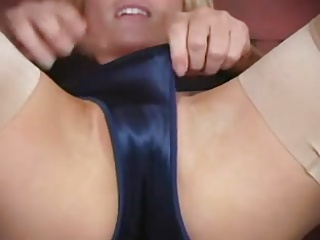 Blue sexi silky panties