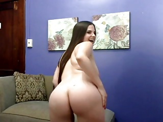 Yummy Chubby Teen showing her tits, ass and pussy