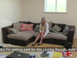 FakeAgentUK Stunning blonde gets bus fare home for fake casting fuck