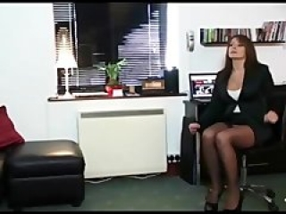 After interviewing hunk pornstar Milf wanted his big black cock inside her