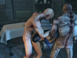 Ashley and Femshep trapped in the Labroom (Mass Effect sex)