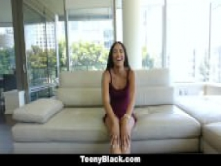 TeenyBlack – Cute Ebony Teen Fucked During Casting
