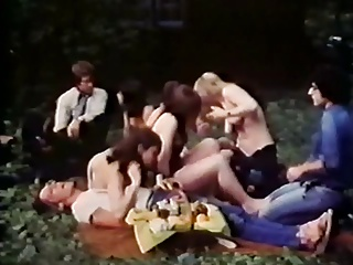 Huge outdoor vintage porn family orgy with bear costume