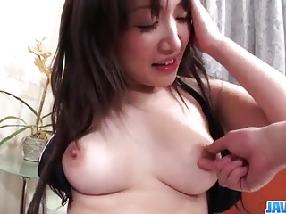 Shizuku Morino brunette babe plays nasty on a big cock