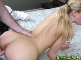 Tiny stepsis rides dick