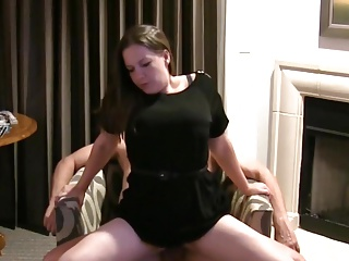 Reverse cowgirl and creampie with MILF