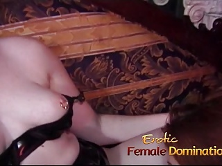Horny bimbos enjoy licking their wet pussies and their round