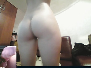 Petite Katie strips and teases me on cam.