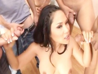 Asian Deepthroat Blowbang