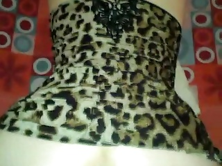 Amateur Bulgarian GF – Leopard Dress