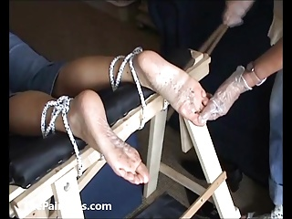 Extreme foot fetish and feet needle bdsm of mature amateur