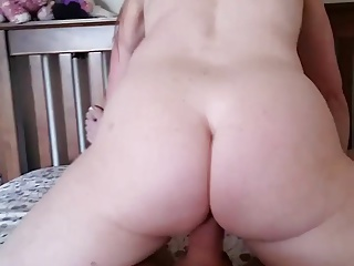 Wife rides big neighbor cock