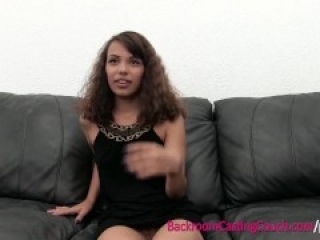 Latina Teen First Time Anal Creampie on Casting Couch