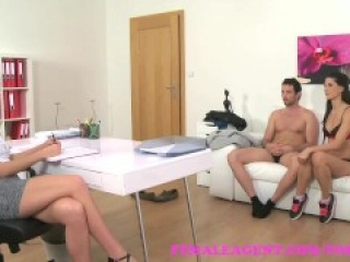 FemaleAgent Sexy threesome with Spanish couple