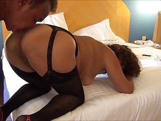 LLYNN FUCKS DOGGY IN BLACK LINGERIE