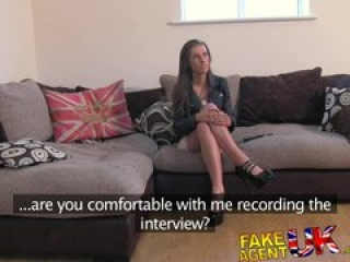 FakeAgentUK Fresh hot girl introduced to anal on casting couch