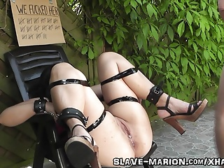 Sex slave bondaged, barebacked and creampied