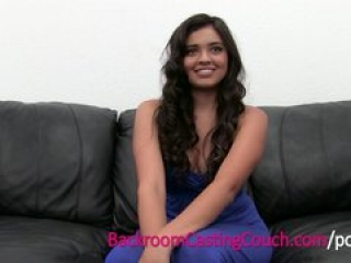 Squirting Anal Loving Teen Cums on Casting Couch