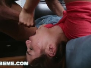 ABUSEME- Petite Young Teen Sally Squirt Takes A Big Dick Aggressively